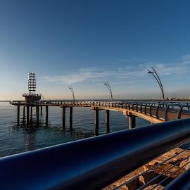 Burlington Pier by Vanko Dimitrov - Buildings & Architecture Bridges & Suspended Structures ( ontario lake, burlington, blue, pier, spring )