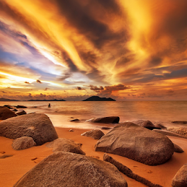 Sunset sky by Dany Fachry - Landscapes Beaches