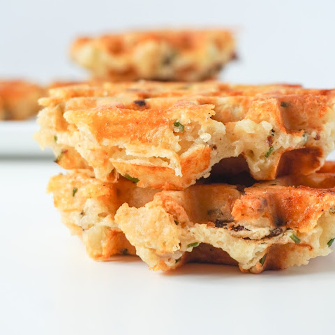 Bacon Cheddar and Chive Waffles