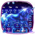 Neon Galaxy Unicorn Keyboard Theme Icon