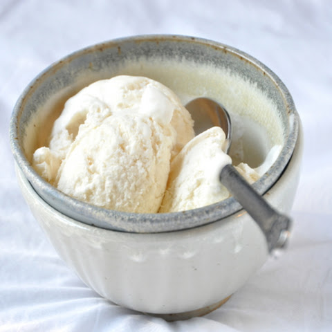 No-Churn Three Ingredient Vanilla Ice Cream