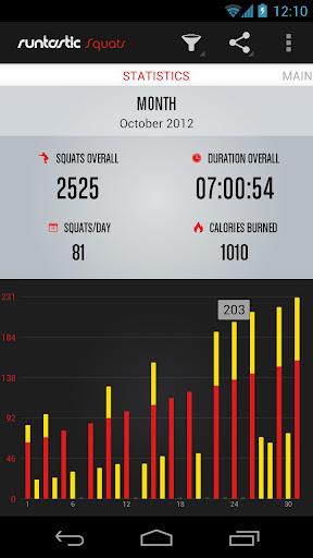 Runtastic Squats Workout screenshot 2