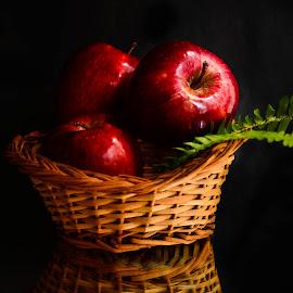 Fruit Basket by Prasanta Das - Food & Drink Fruits & Vegetables ( fruit, still life, apple, basket )