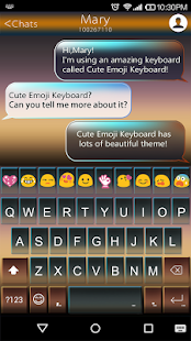 Twi Light Emoji Keyboard Theme - screenshot