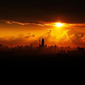 Kuala Lumpur skyline by Yaman Ibrahim - City,  Street & Park  Vistas