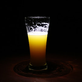 dark way to highness by Charlie Thomas - Food & Drink Alcohol & Drinks ( beer, bera, yellow in black, into highness, beauty in black )
