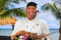 The Chef at the resort with lobster