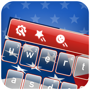 American Flag Keyboard Theme