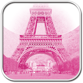APK App pink theme Eiffel tower for BB, BlackBerry