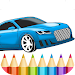 Best Cars Coloring Book Game Icon