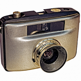 Retro photo camera by Roberto Sorin - Artistic Objects Antiques ( optical, body, old, technology, retro, equipment, analog, object, photography, style, metal, glass, focus, nostalgia, classic, black, top, film, isolated, vintage, silver, art, camera, white, professional, photo, lens, close-up, aperture, shutter, background, view, antique,  )