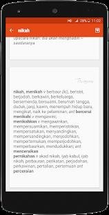 Kamus Besar Bahasa Indonesia- screenshot thumbnail