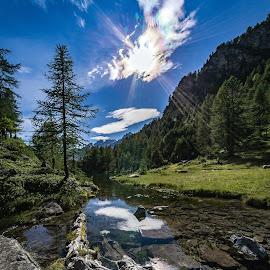Alpe Devero by Alessio Coluccio - Landscapes Prairies, Meadows & Fields ( mountain, sky, lanscapes, rocks, sun )