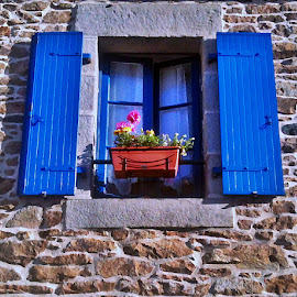 Window by Dobrin Anca - Buildings & Architecture Other Exteriors ( window, brittany, walk, rocks, flower,  )