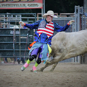 American Bullfighter by Brian  Shoemaker  - Sports & Fitness Rodeo/Bull Riding ( hero, bullfighter, painted hero, rodeo,  )