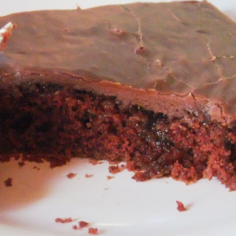 Granny's Scrumptious Chocolate Sheet Cake