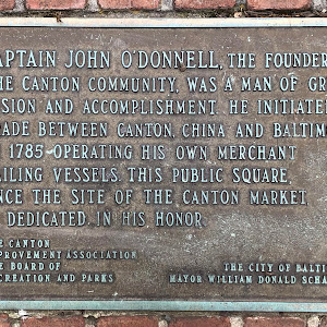 CAPTAIN JOHN O'DONNELL, THE FOUNDER OFTHE CANTON COMMUNITY, WAS A MAN OF GREATVISION AND ACCOMPLISHMENT. HE INITIATEDTRADE BETWEEN CANTON, CHINA AND BALTIMOREIN 1785 OPERATING HIS OWN MERCHANTSAILING ...