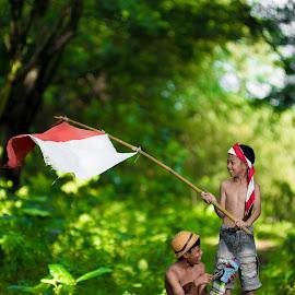 by Eko Probo D Warpani - Babies & Children Children Candids ( canon, strobist, green, nikkor, children, candid, tamron, sony, child, playing, colour, flag, nature, village, color, happy, indonesia, nikon, tokina,  )