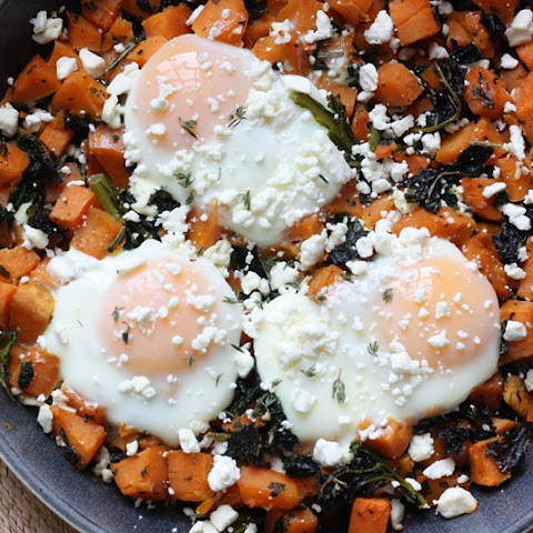 Maple Sweet Potato Hash with Fried Eggs & Kale