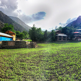 Karkal by Abdul Rehman - Instagram & Mobile iPhone ( clouds, mountains, huts, summer, sunlight )