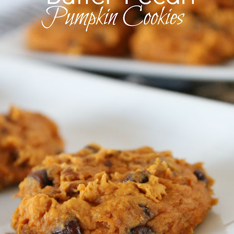 Butter Pecan Pumpkin Cookies