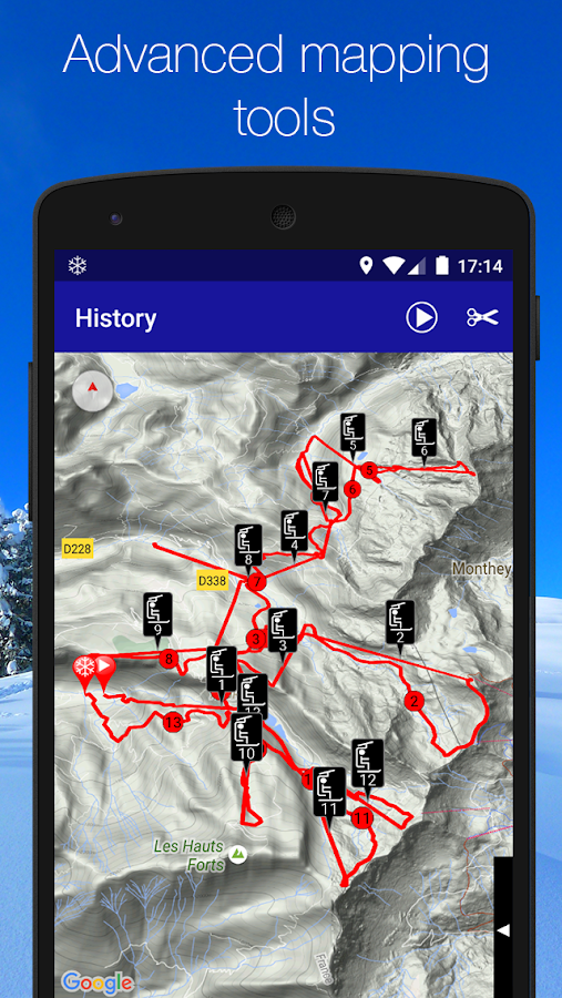 Ski Tracks Screenshot 2