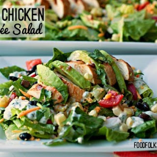 BBQ Chicken Entrée Salad with Cilantro Ranch Dressing