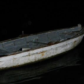 Old boat by Nat Bolfan-Stosic - Uncategorized All Uncategorized ( old, sea, boat, alone, darkness )
