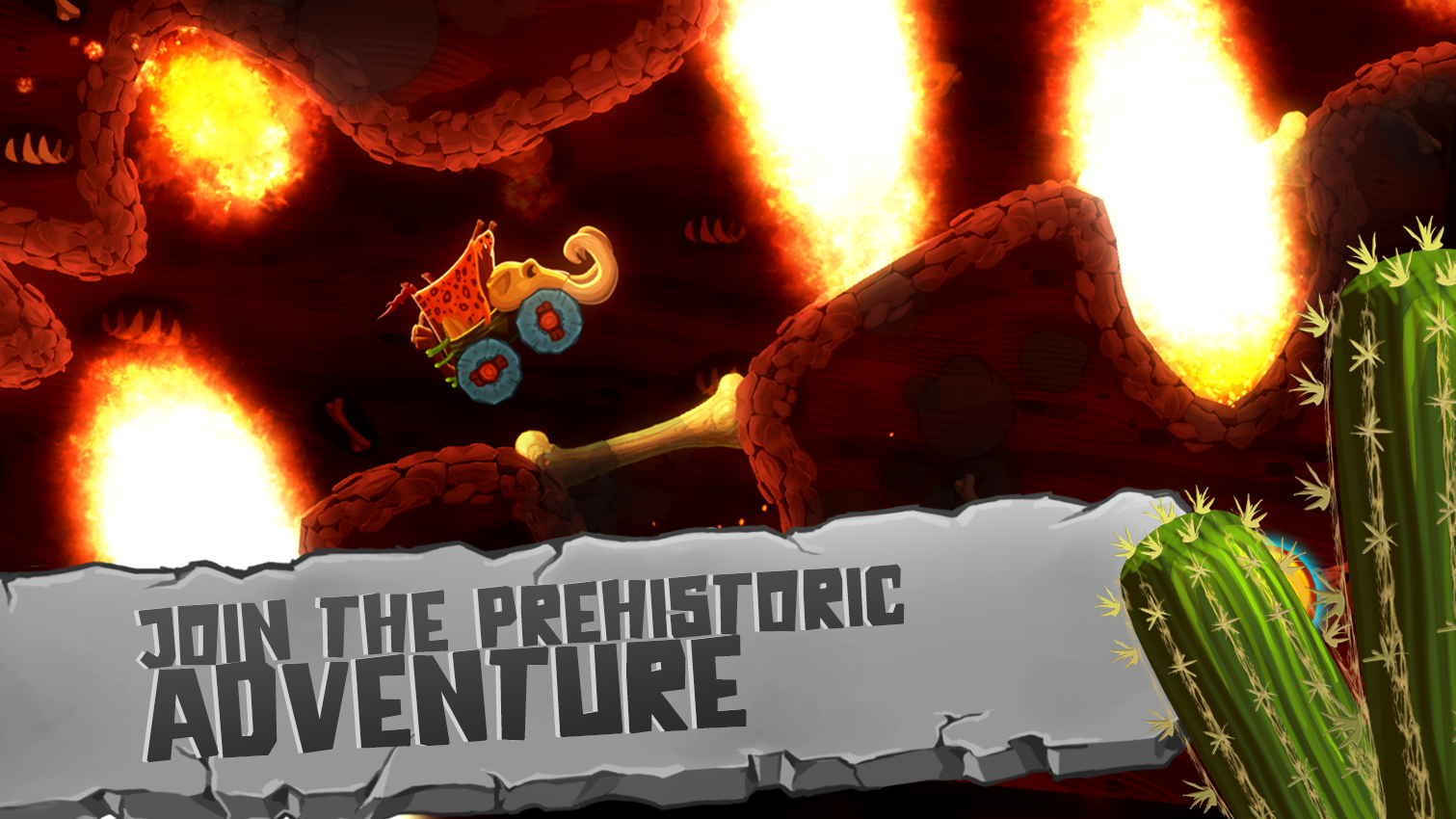 Fun Kid Racing Prehistoric Run Screenshot