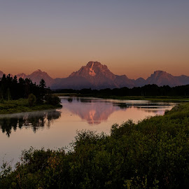 Sunrise in the Tetons by Joey Javier - Landscapes Sunsets & Sunrises ( mountains, montana, reflections, landscapes, tetons )