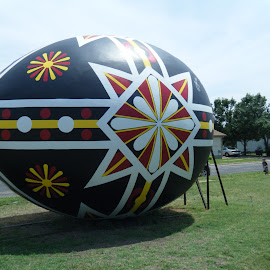 World's Largest Czechoslovakian Egg by Elizabeth O - Buildings & Architecture Architectural Detail ( abstract, park, pattern, egg, kansas )