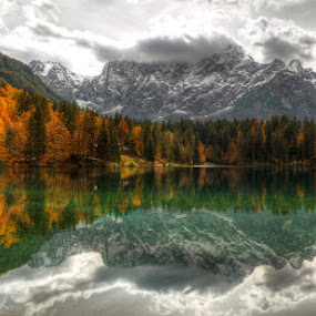 by Boštjan Peterka - Landscapes Waterscapes ( laghi di fusine )