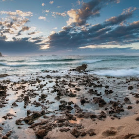 Cala Conte Sunset Pano by Inma  Monte Picante - Landscapes Sunsets & Sunrises ( ibiza, panoramica, sunset, cala conta, beach )