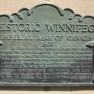 HISTORIC WINNIPEGImperial Bank of Canada1906On this site the Imperial Bank of Canada opened the first branch of the bank in Winnipeg on January 4, 1881. The original Robertson Block was replaced in ...