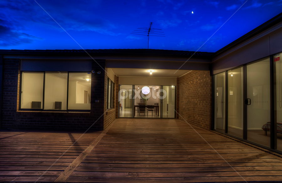 Twilight by Peter Cannon - Buildings & Architecture Homes ( exteriors, twilight twilight, house, architecture, homes, living )