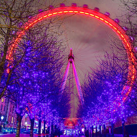 London Eye In Motion by Jon Raffoul - City,  Street & Park  City Parks ( london eye london river thames iconic,  )