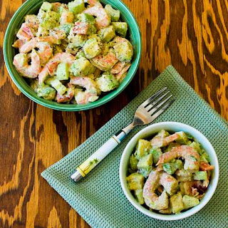 Shrimp, Avocado and Red Pepper Salad