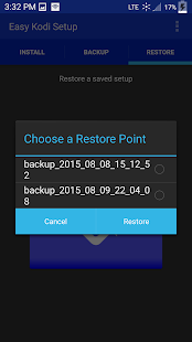 Easy Kodi Setup Backup/Restore Screenshot