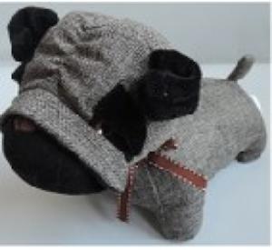 Игрушка мягконабивная плюшевая Мопс-стоппер, Город Игр
