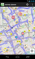 Screenshot of CycleStreets journey planner