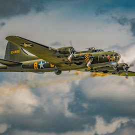 Memphis Belle -Sally B by Anthony P Morris - Transportation Airplanes ( sallyb, flyingfortress, plane, anthony morris, memphisbelle, bomber, anthonypmorris, oxford, farmoor, airoplane )