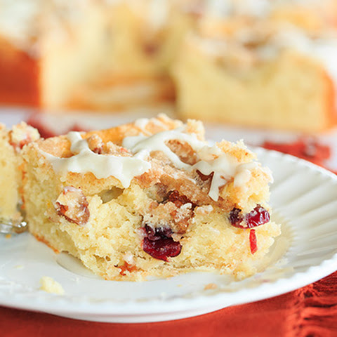 Overnight Cranberry-Eggnog Coffee Cake