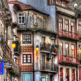 Oporto street by Carlos Pereira - City,  Street & Park  Street Scenes