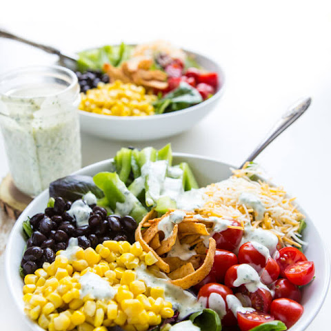 Southwest Salad with Cilantro Ranch Dressing