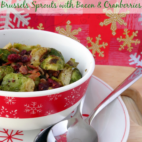 Brussels Sprouts with Bacon & Cranberries