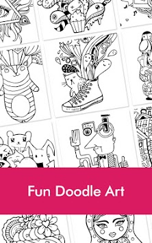 Doodle Coloring Book For Adult Apk Screenshot