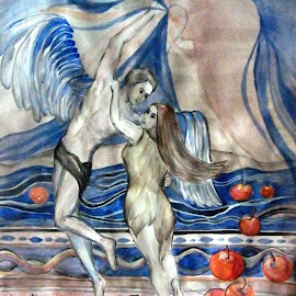 Adam  and Eve, version 2 by Vesna Disich - Painting All Painting