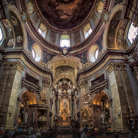 Katholische Kirche St. Peter  by Ole Steffensen - Buildings & Architecture Places of Worship ( katholische kirche st. peter, church, austria, wien, vienna, interior, architecture )