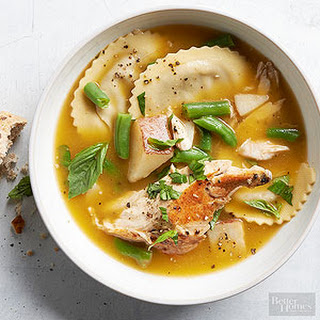 Rosemary and Ravioli Chicken Soup