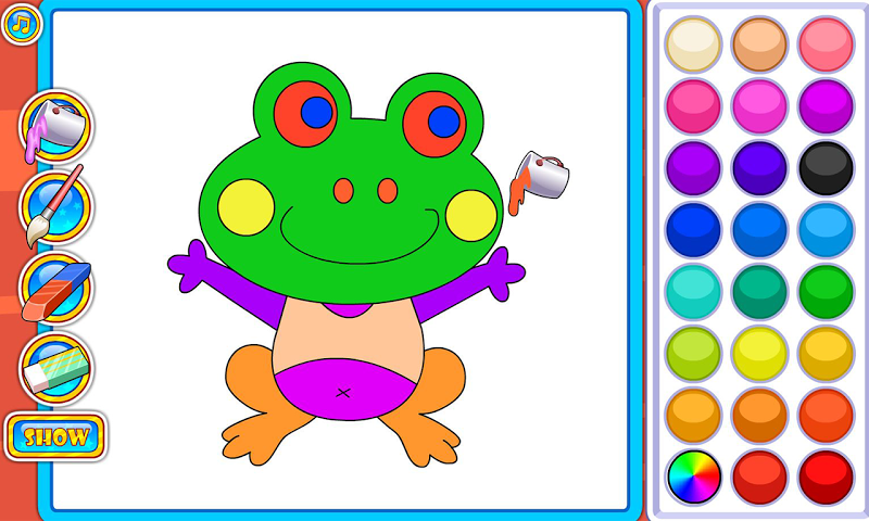 android Puzzles and Coloring Games Screenshot 1